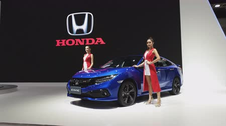 melez : NONTHABURI - NOVEMBER 28: Honda Civic car on display at The 35th Thailand International Motor Expo on November 28, 2018 in Nonthaburi, Thailand.