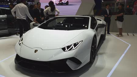 enterprise : NONTHABURI - NOVEMBER 28: Lamborghini B10 car on display at The 35th Thailand International Motor Expo on November 28, 2018 in Nonthaburi, Thailand.