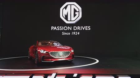 enterprise : NONTHABURI - NOVEMBER 28: MG E-Motion Concept car on display at The 35th Thailand International Motor Expo on November 28, 2018 in Nonthaburi, Thailand.