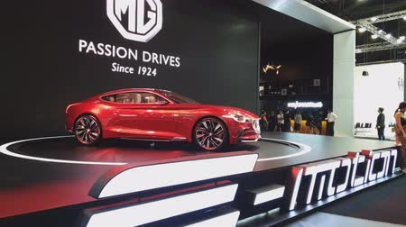 mg : NONTHABURI - NOVEMBER 28: MG E-Motion Concept car on display at The 35th Thailand International Motor Expo on November 28, 2018 in Nonthaburi, Thailand.