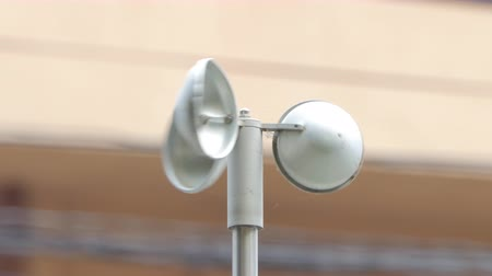 meteorological : Anemometer, instrument of measurement speed of wind, at weather station.