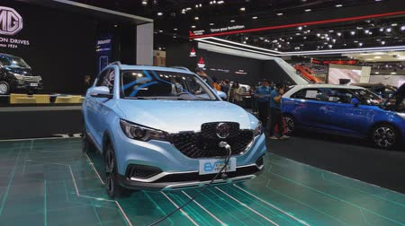 super car : NONTHABURI - MARCH 26: MG ZS Pure Electric car on display at The 40th Bangkok International Thailand Motor Show 2019 on March 26, 2019 Nonthaburi, Thailand.