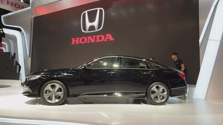 super car : NONTHABURI - MARCH 26: Honda Accord car on display at The 40th Bangkok International Thailand Motor Show 2019 on March 26, 2019 Nonthaburi, Thailand.