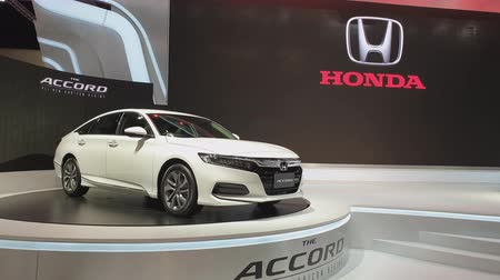 двухместная карета : NONTHABURI - MARCH 26: Honda Accord car on display at The 40th Bangkok International Thailand Motor Show 2019 on March 26, 2019 Nonthaburi, Thailand.