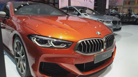 super car : NONTHABURI - MARCH 26: BMW The 8 car on display at The 40th Bangkok International Thailand Motor Show 2019 on March 26, 2019 Nonthaburi, Thailand.