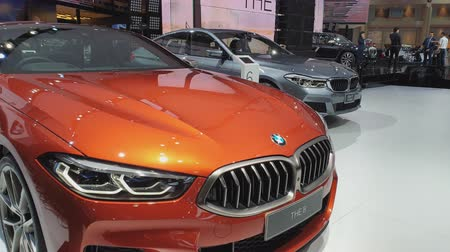 řidič : NONTHABURI - MARCH 26: BMW The 8 car on display at The 40th Bangkok International Thailand Motor Show 2019 on March 26, 2019 Nonthaburi, Thailand.