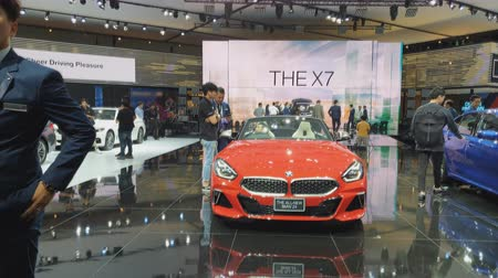 série : NONTHABURI - MARCH 26: The all-new BMW Z4 car on display at The 40th Bangkok International Thailand Motor Show 2019 on March 26, 2019 Nonthaburi, Thailand.