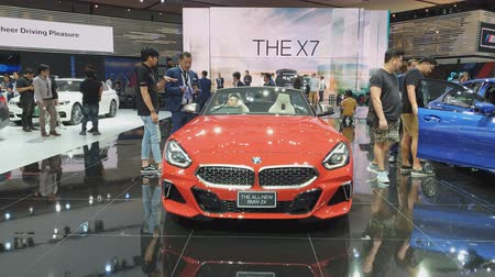 super car : NONTHABURI - MARCH 26: The all-new BMW Z4 car on display at The 40th Bangkok International Thailand Motor Show 2019 on March 26, 2019 Nonthaburi, Thailand.