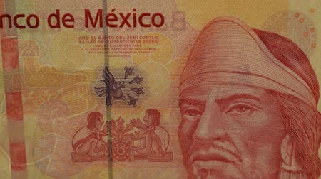 Close up of a 100 pesos mexican banknote