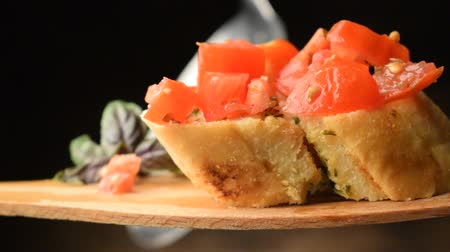 grzanki : Bruschetta with garlic and tomato