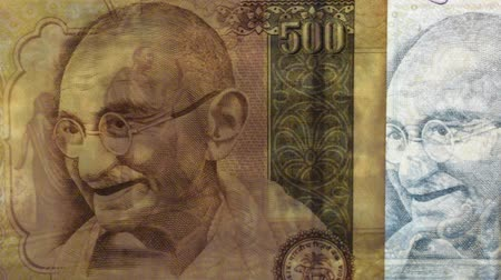 filigran : Gandhis portrait on Indian banknotes