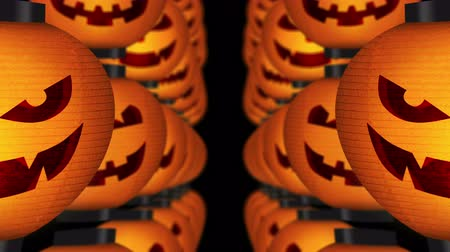haunted : Halloween pumpkin lanterns, Loop