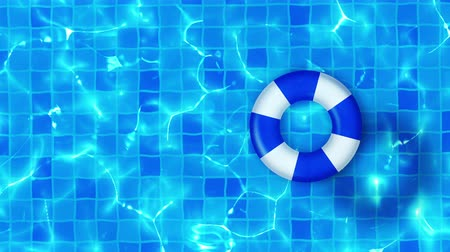 flutuador : Swimming pool top view, CG animation, Pool float, Stock Footage