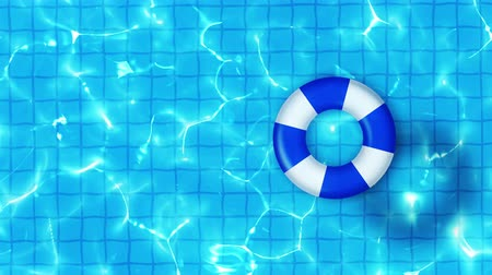 waters : Swimming pool top view, CG animation, Pool float, Stock Footage