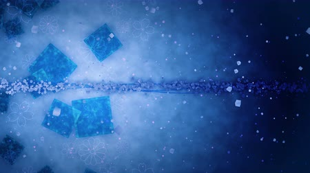 çivit : Blue Glitter Background with Traditional Japanese Loop Patterns Stok Video