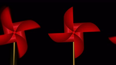 lapát : Red Paper Pinwheel Toy, Windmill Loop Animation,