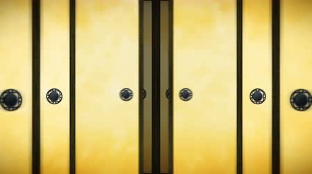 doorway : Japanese Style Fusuma Door, Sliding Door Loop Animation, Stock Footage