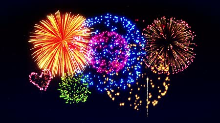 söğüt : Colorful Fireworks Light Up the Sky, CG Loop Animation,