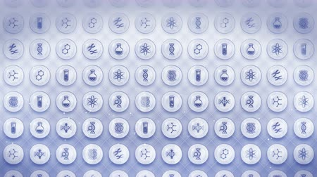 genetic research : Icons set of Genetic Biotechnology Background, CG Loop Animation,
