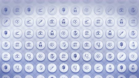 medical thermometer : Set of Medical Icons, Medicine Background and CG Loop Animation,