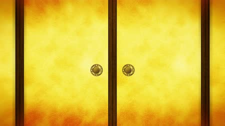 samuraj : Japanese Style Fusuma Door, Sliding Door Loop Animation, Wideo