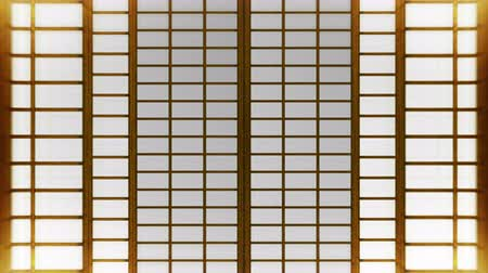samuraj : Japanese Style Shoji Door, Sliding Door Loop Animation,