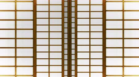 doorway : Japanese Style Shoji Door, Sliding Door Loop Animation,