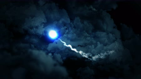 prach : Fantasy landscape on cloudy sky, White smoke animation, Loop the background,