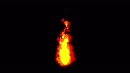 komický : Fire lightning animation, Cartoon comic animation, Flame the loop background,