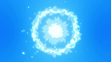 sky bomb : Steam cloud animation. Animation cartoon white smoke, Fog loop background,