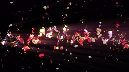 вихревой : Colorful petals. Spiral shiny petals of blossoms. Flower pattern. Pretty dancing petal. Vortex from spin petals. Abstract loop animation.