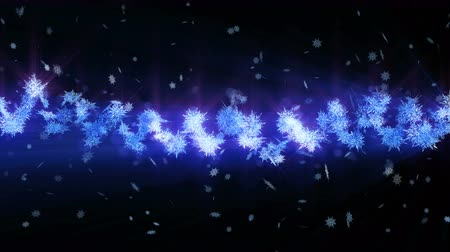 elmas : Shinning winter symbol with beauty snowflakes. Vortex from spin snow. Winter pattern. Beauty dancing snowflakes. Abstract loop animation.