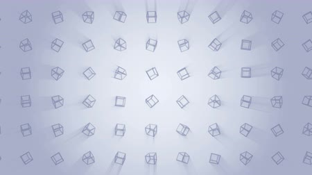 jednoduchý : Geometric cube pattern. Cube dancing. Business symbol loop animation. Business network design.