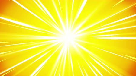 celestial : Cartoon beam animation. Shiny sun background. Sunburst rays in heaven. Abstract loop design.