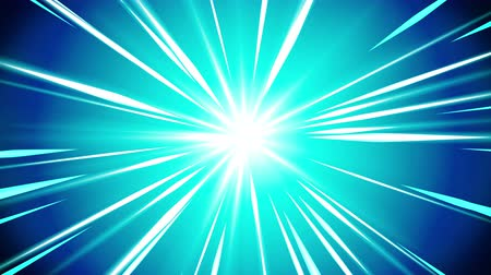излучение : Starburst rays in space. Cartoon beam loop animation. Future technology concept background. Explosion star with lines.