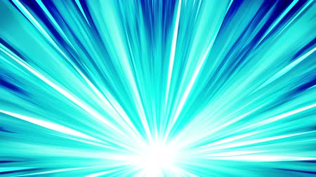 fundo azul : Starburst rays in space. Cartoon beam loop animation. Future technology concept background. Explosion star with lines.