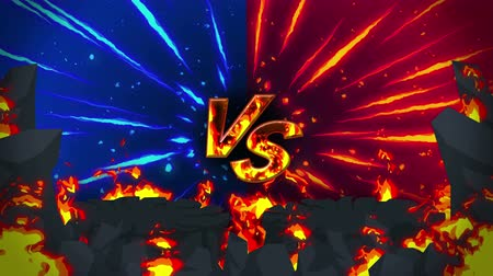 srovnávat : Cartoon fire animation. Flame the loop background. Competition. Battle game. Versus the icon. VS icon. Dostupné videozáznamy