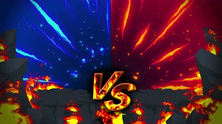 comparar : Cartoon fire animation. Flame the loop background. Competition. Battle game.