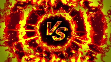 versengés : Cartoon fire animation. Flame the loop background. Competition. Battle game.