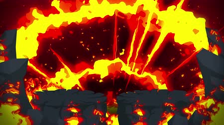 srovnávat : Cartoon fire animation. Flame the loop background. Competition. Battle game.