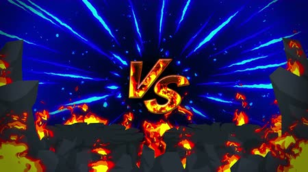 wilderness : Cartoon fire animation. Flame the loop background. Competition. Battle game.
