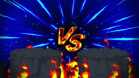 área de deserto : Cartoon fire animation. Flame the loop background. Competition. Battle game.