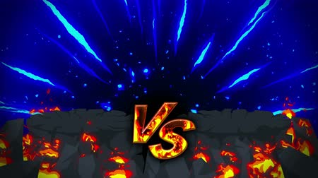 sky bomb : Cartoon fire animation. Flame the loop background. Competition. Battle game.