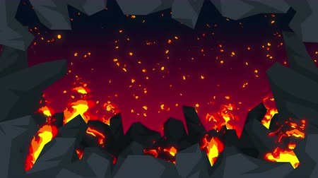 apocalyptic : Evil abstract animation, Apocalyptic hell background, Fire flames on spooky wilderness,