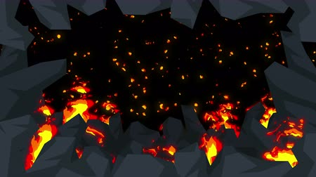 ördög : Evil abstract animation, Apocalyptic hell background, Fire flames on spooky wilderness,