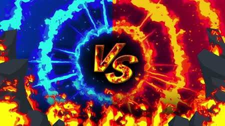 황야 : Cartoon fire animation. Flame the loop background. Competition. Battle game.
