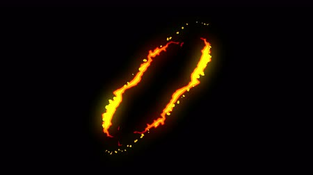 saber : Fire lightning animation, Cartoon comic animation, Flame the loop background,