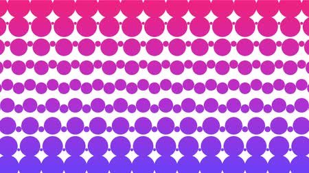 pontilhado : Polka dot pattern animation. Modern geometrical circle. Loop animation.