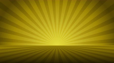 vacant : Rotating yellow radial rays. Shiny background with ray of light. Gold abstract space. Loop animation