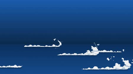çivit : Smoke animation from fast movement. Animation element for game. Cartoon steam clouds. Loop black animation. Stok Video